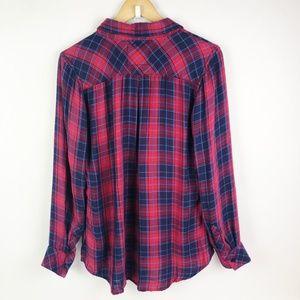 Rails Tops - Rails Plaid Button Front Long Sleeve Shirt